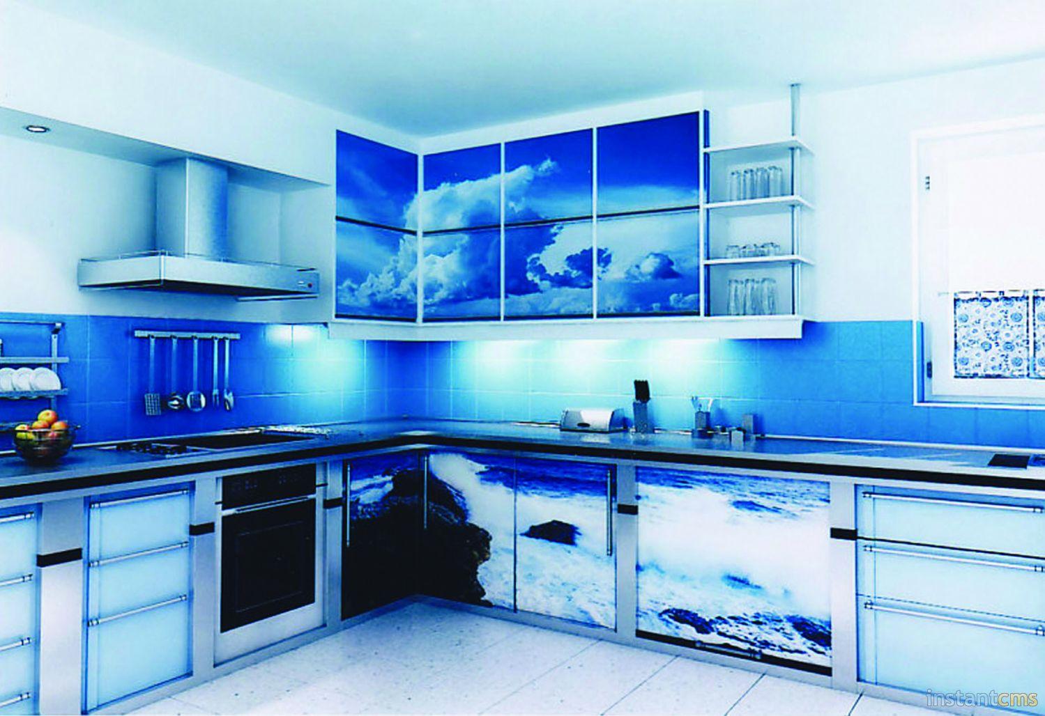 кухни с фотопечатью фото