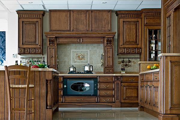 Фасады для кухни из дерева